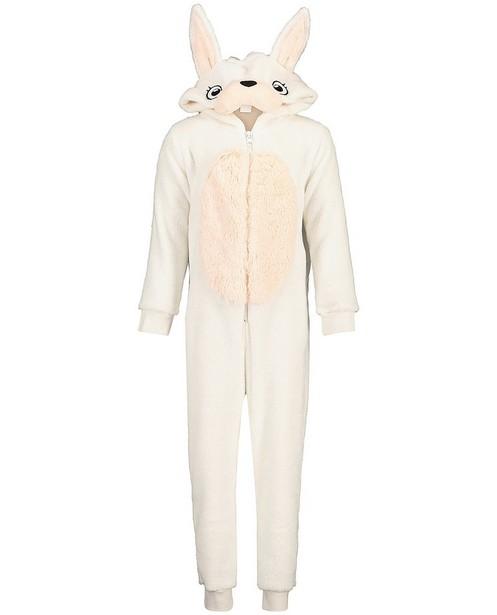 Witte konijnen onesie - faux-fur - JBC