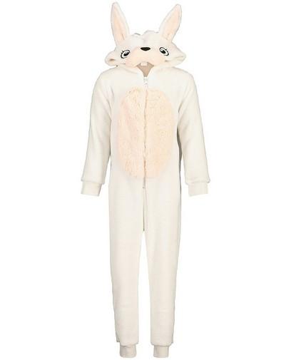 Witte konijnen onesie