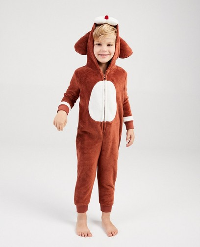 Bruine hond onesie