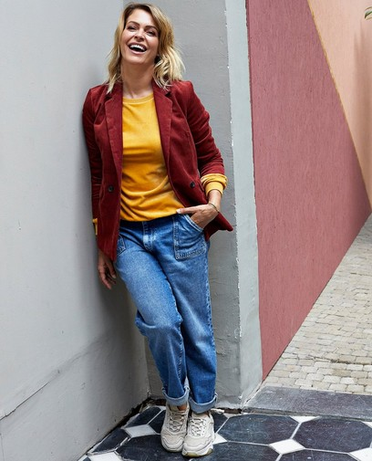 Jeans Mom bleu Karen Damen