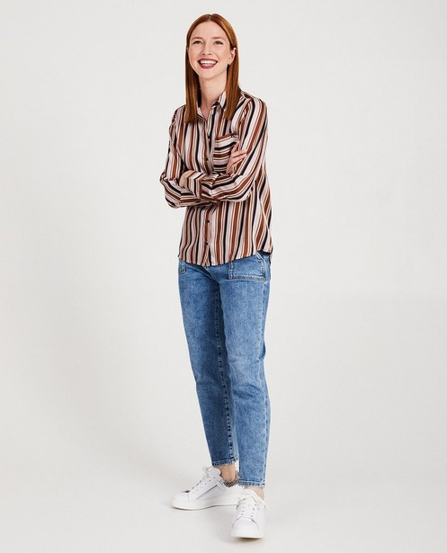 Blauwe mom jeans Karen Damen - high rise - Karen Damen