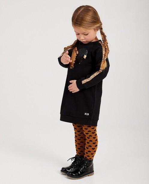 Robe noire à paillettes K3 - robe molletonnée - K3