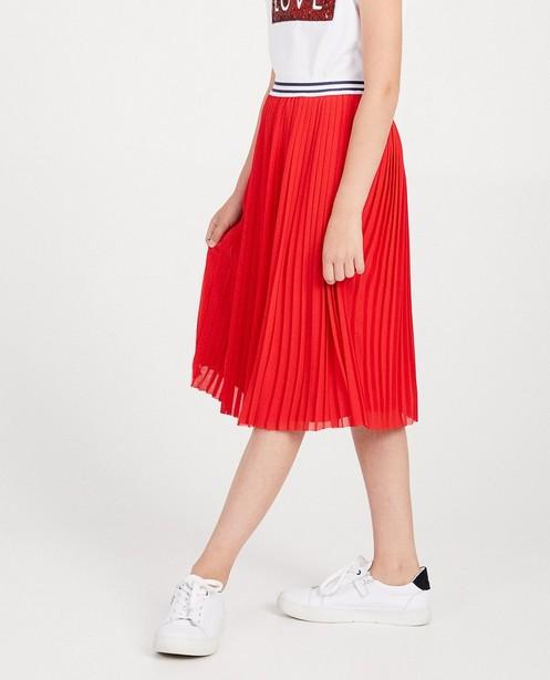 Jupes - Jupe plissée rouge