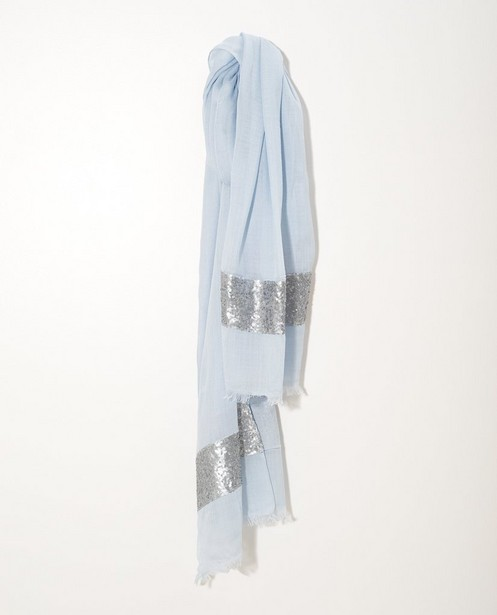 Lichtblauwe sjaal Sarlini - met pailletten - JBC
