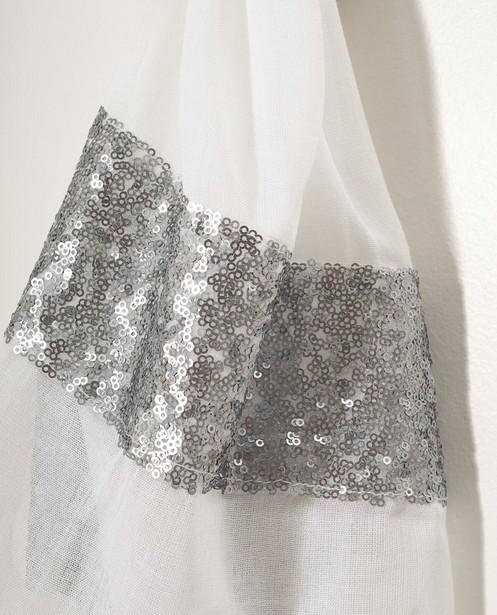 Breigoed - WTM - Witte sjaal met pailletten Sarlini