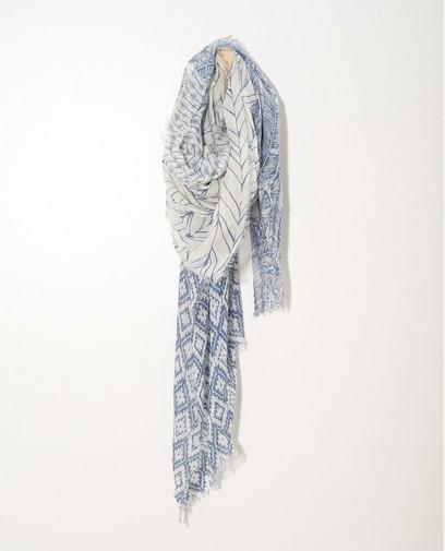 Écharpe bleue et blanche Sarlini