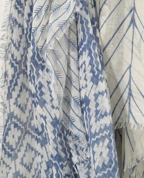 Bonneterie - aqua - Écharpe bleue et blanche Sarlini