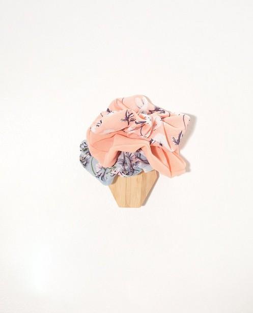 Set van 3 scrunchies - in roze en blauw - JBC