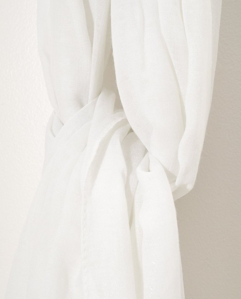 Bonneterie - white - Foulard blanc brillant Sarlini
