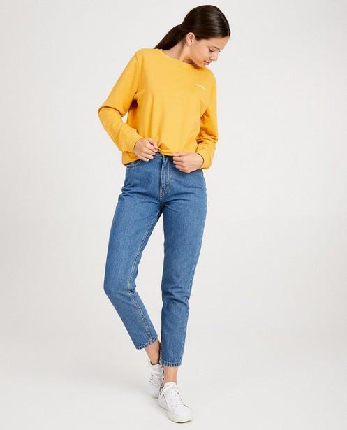 Gele sweater met opschrift - in 3 kleuren - Groggy