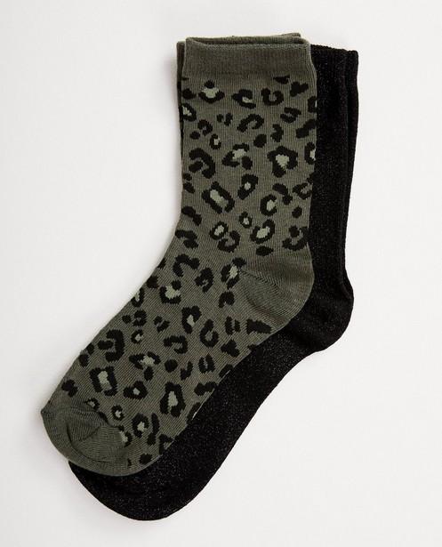 Ensemble: 2 paires de chaussettes - à bouton-pression - JBC