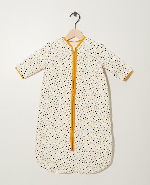 Sac de couchage blanc en coton bio - imprimé intégral - Cuddles and Smiles