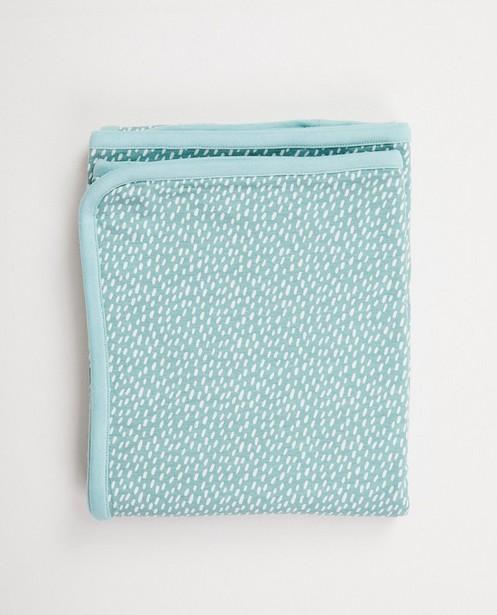 Lichtblauwe deken in biokatoen - twee kanten - cudd