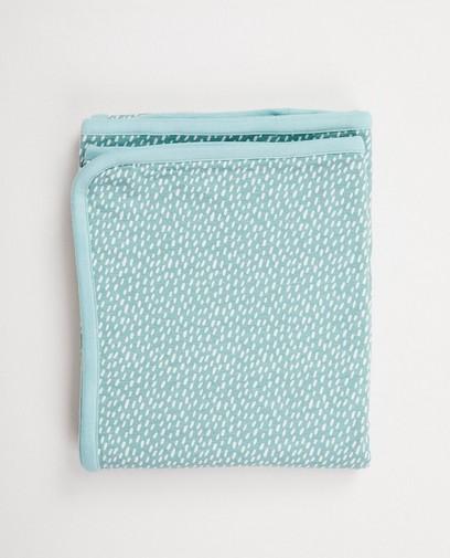 Lichtblauwe deken in biokatoen