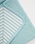 Babyspulletjes - Lichtblauwe deken in biokatoen
