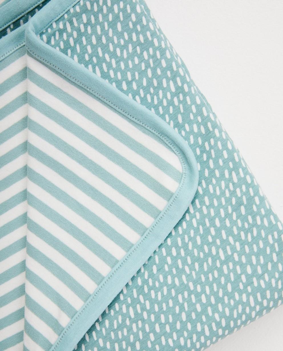 Babyspulletjes - BLM - Lichtblauwe deken in biokatoen