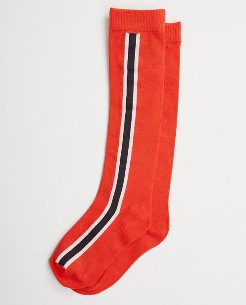 Oranje kniekousen met strepen - aan de zij - Like Me