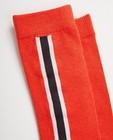 Chaussettes - Mi-bas orange à rayures