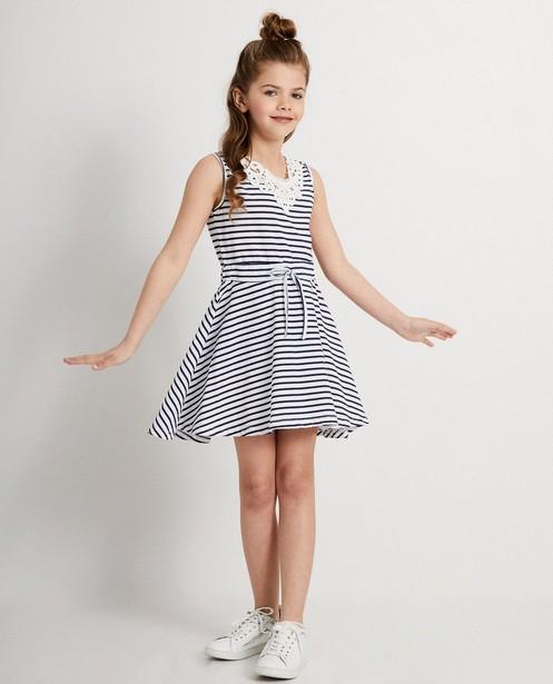 Witte jurk met strepen Ella Italia - allover print - elle