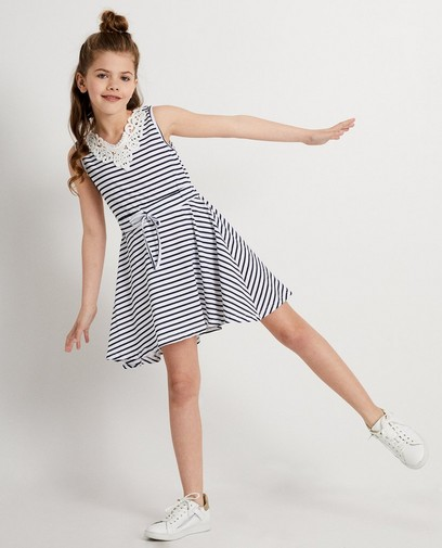 Witte jurk met strepen Ella Italia