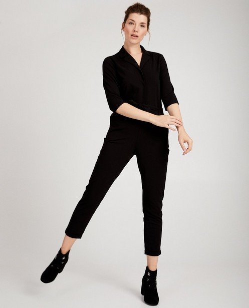 Zwarte jumpsuit Sora - met knooplint - Sora