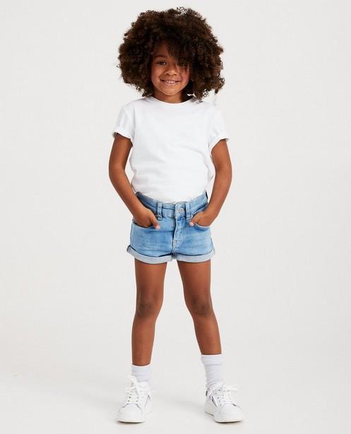 Lichtblauwe jeansshort - Milla - star - JBC