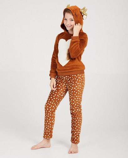 Bruine hertjes-pyjama