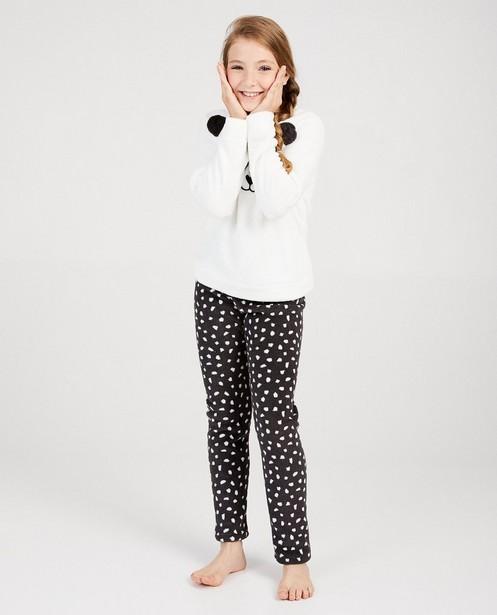 Pyjama panda noir et blanc - ensemble - fish