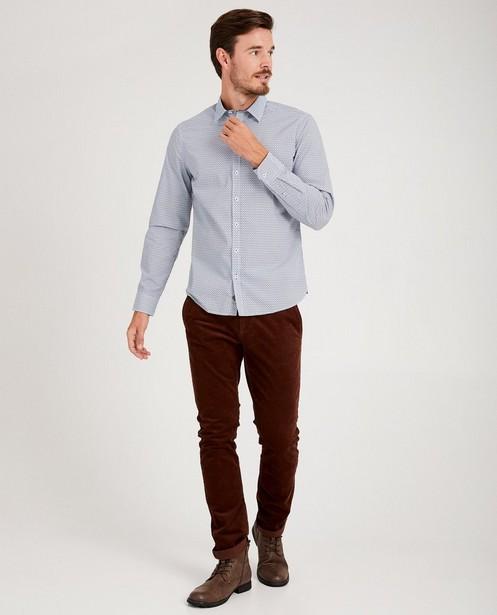 Wit hemd met print Hampton Bays - allover - Hampton Bays