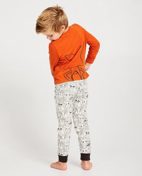 Pyjama évolutif De Fabeltjeskrant - bords côtelés - fabe