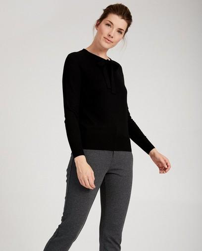 Zwarte trui van luxebreigoed Sora