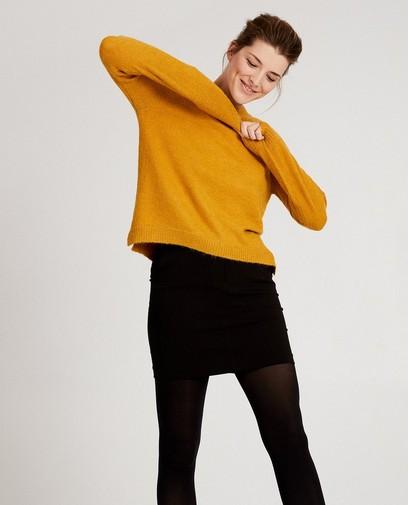 Gele trui van luxebreigoed Sora