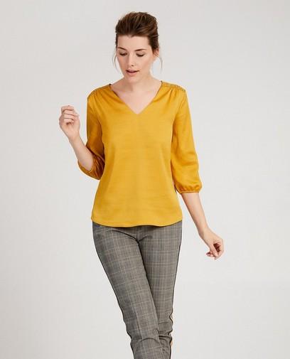 Donkergele blouse Sora