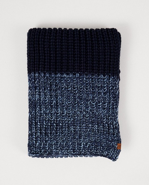 Blauwe sjaal - met strepen - JBC