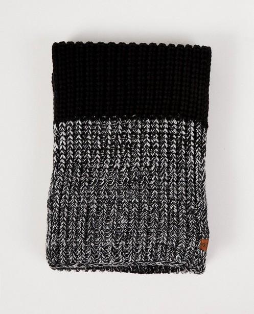 Zwarte sjaal met grijs en wit - color block - JBC