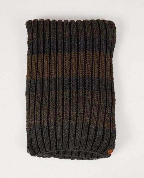 Grijs-groene sjaal - met strepen - JBC