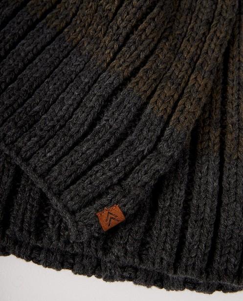 Breigoed - Grijs-groene sjaal