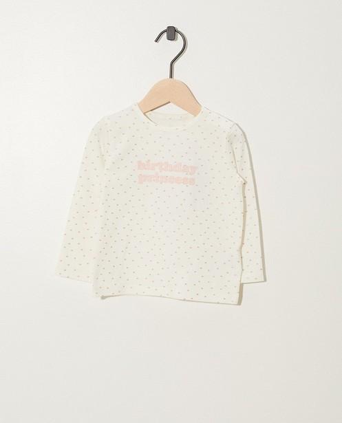 Witte 'Birthday Princess' T-shirt - kroontjes - cudd