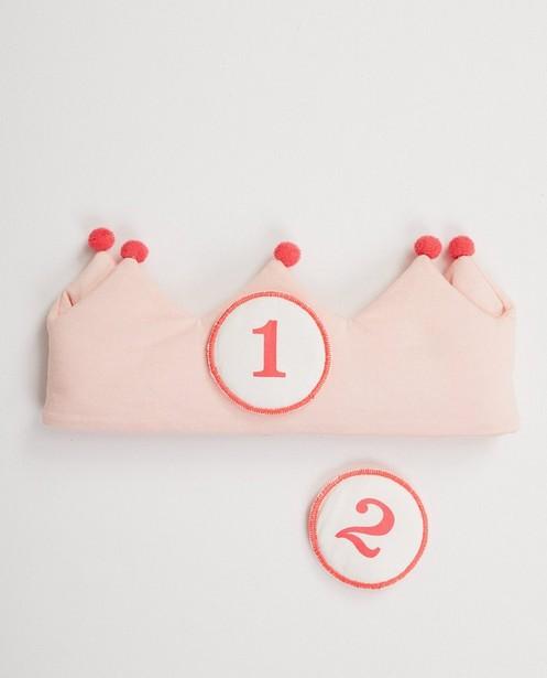 Roze verjaardagskroon biokatoen - kroon - Cuddles and Smiles