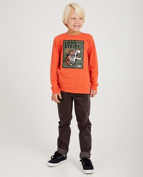 Pantalon gris en coton bio I AM - velours côtelé - I AM