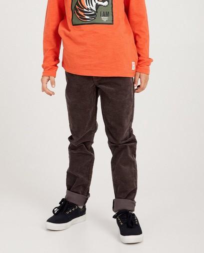 Pantalon gris en coton bio I AM