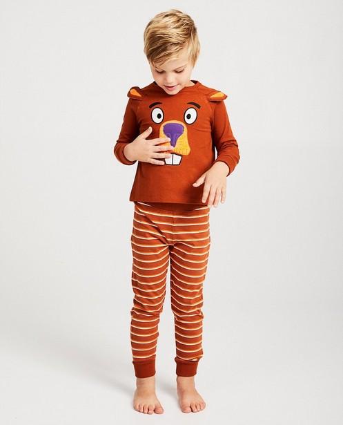 Bruine pyjama De Fabeltjeskrant - allover - fabe