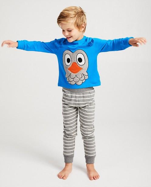 Blauwe pyjama De Fabeltjeskrant - Meneer de Uil - fabe