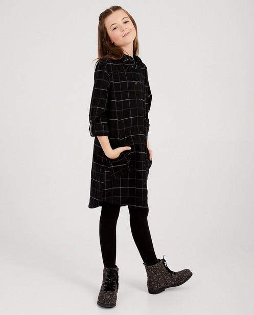 Zwarte jurk met ruiten Nachtwacht - allover - Nachtwacht