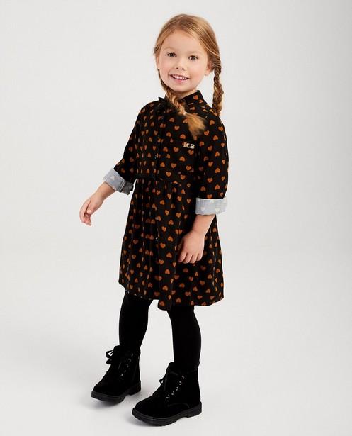 Zwart jurkje met hartjes K3 - allover - K3