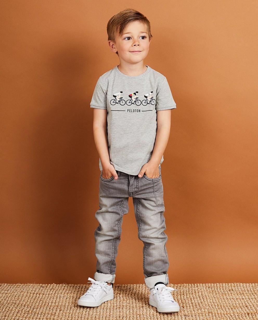 T-shirt gris Baptiste, 2-7 ans - peloton - JBC