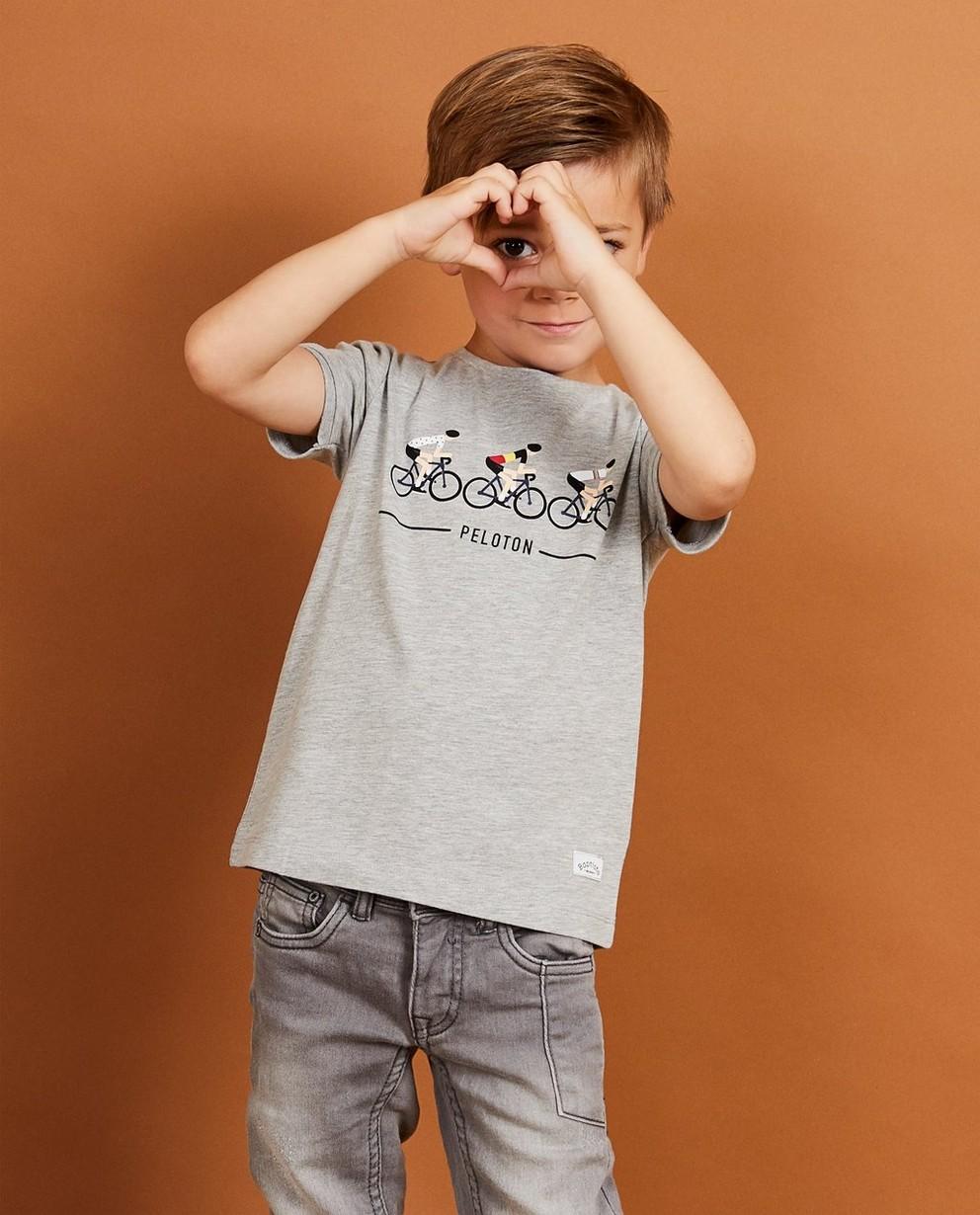 T-shirts - grey - T-shirt gris Baptiste, 2-7 ans