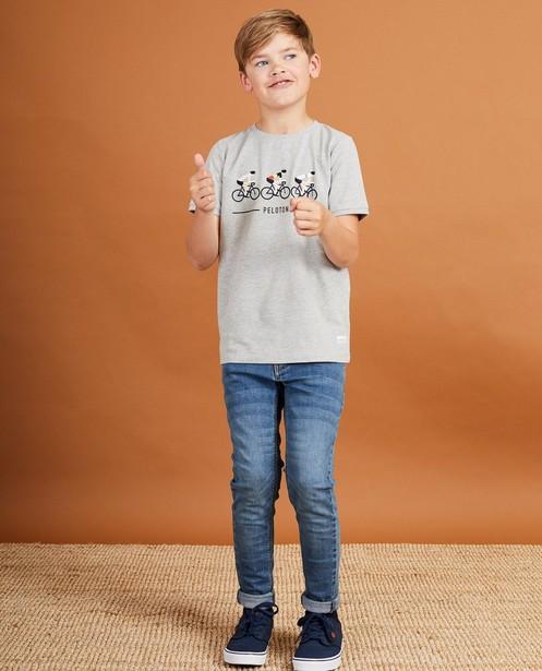 Grijs T-shirt Baptiste, 7-14 jaar - met print - JBC