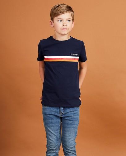 Marineblauw T-shirt Baptiste