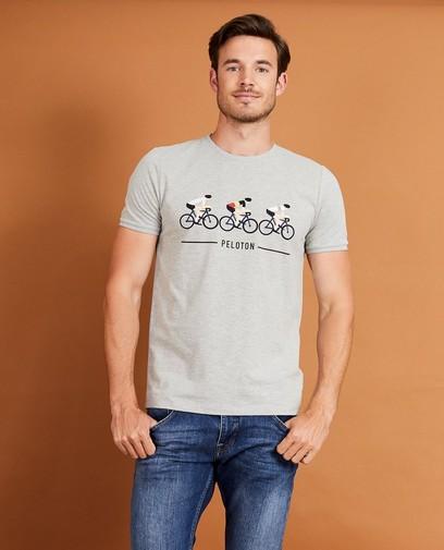 T-shirt gris, imprimé Baptiste